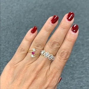 14k Yellow Gold Engagement wedding Ruby ring